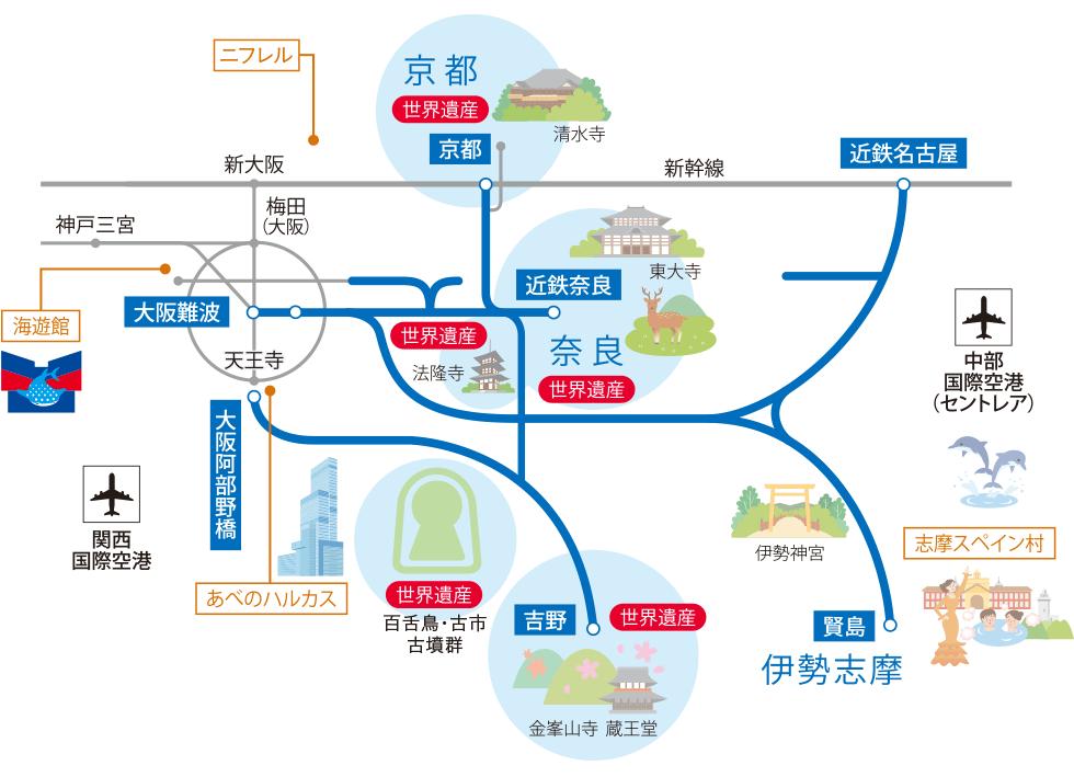 近畿日本鉄道の沿線